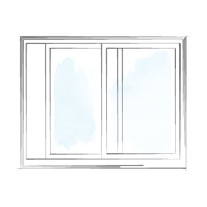 window sliding single